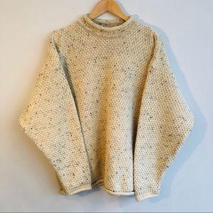 Vintage Irish Roll Neck Fisherman Sweater
